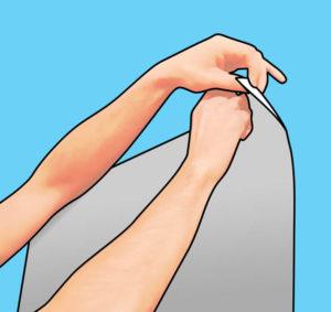 Colocação lâmina reflexiva